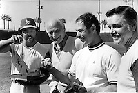 Oakland Athletics at Spring Training 1973 in Arizona.<br />
