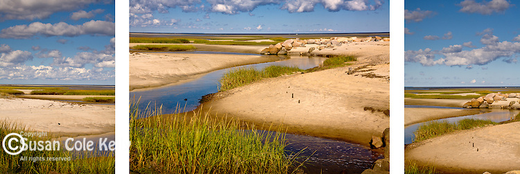 Paines Creek Beach in Brewster, Cape Cod, MA, USA. <br /> <br /> Three images to be displayed together. Buy each image separately or contact us to price all three.