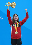 Rio de Janeiro-9/9/2016-Aurelie Rivard gold medal in the women's 50m fr finals at the 2016 Paralympic Games in Rio. Photo Scott Grant/Canadian Paralympic Committee