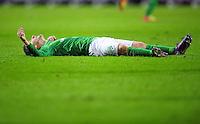 FUSSBALL   1. BUNDESLIGA   SAISON 2011/2012   23. SPIELTAG SV Werder Bremen - 1. FC Nuernberg                   25.02.2012 Marko Marin (SV Werder Bremen) enttaeuscht am Boden