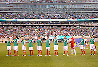 Mexico National Team at the signing of the National Anthem.   Mexico defeated Guatemala 2-1 in the quaterfinals for the 2011 CONCACAF Gold Cup , at the New Meadowlands Stadium, Saturday June 18, 2011.