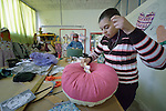Students in a sewing and upholstery class in the Instituto de Buena Voluntad (the Good Will Institute) in Montevideo, Uruguay. Sponsored by the Methodist Church of Uruguay, the institute works with youth and adults with disabilities. It receives financial support from United Methodist Women.