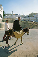 May 7th, 1987. In Melilla, Spanish Morocco. View of the Barrio Hidum, which is a Muslim area on the Suburb of Melilla.