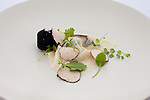 Black Truffles with wild apple, cress and celery root cooked in ash