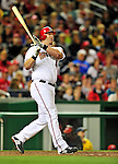 29 September 2010: Washington Nationals first baseman Adam Dunn in action against the Philadelphia Phillies at Nationals Park in Washington, DC. The Phillies defeated the Nationals 7-1 to take the rubber game of their 3-game series. Mandatory Credit: Ed Wolfstein Photo