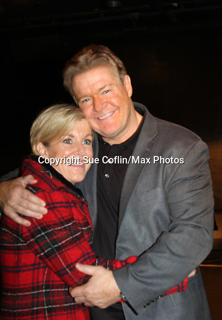 Reenie and brother Michael O'Leary at Breathing Under Dirt - A New Play by Guiding Light's Michael O'Leary and directed by Larry Moss with an industry reading on January 24, 2017 at Cherry Lane Theater, New York City, New York.  (Photo by Sue Coflin/Max Photos)