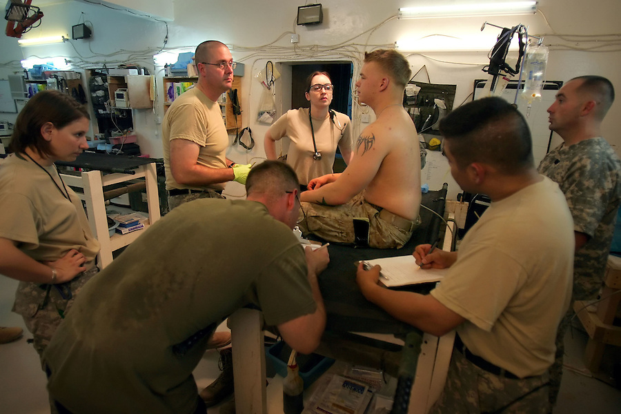 Day three with Ramadi Surgical - Army Charlie Medical and Naval Forward Resuscitative Surgical System Four - Ramadi, Iraq on Friday August 11, 2006.