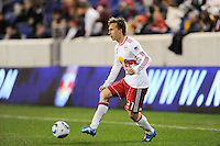 Brian Nielsen (21) of the New York Red Bulls. The New York Red Bulls defeated the New England Revolution 3-0 during a U. S. Open Cup qualifier round match at Red Bull Arena in Harrison, NJ, on May 12, 2010.