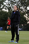 04 October 2014: Duke's Cassie Pecht. The Duke University Blue Devils hosted the University of Louisville Cardinals at Koskinen Stadium in Durham, North Carolina in a 2014 NCAA Division I Women's Soccer match. The game ended in a 0-0 tie after double overtime.