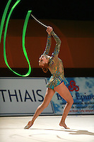 Natalya Godunko of Ukraine waves with ribbon at 2007 Thiais Grand Prix near Paris, France on March 25, 2007.