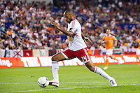 Thierry Henry (14) of the New York Red Bulls. The New York Red Bulls defeated the Houston Dynamo 2-0 during a Major League Soccer (MLS) match at Red Bull Arena in Harrison, NJ, on August 10, 2012.