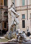 Today the Fontana del Moro at the south end of the Piazza Navona features at its center a statue of a moor wrestling with a dolphin, sculpted by Bernini and added to the fountain in 1673.
