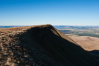 Summit ridge of Fan Brycheiniog in Black Mountain, Brecon Beacons national park, Wales