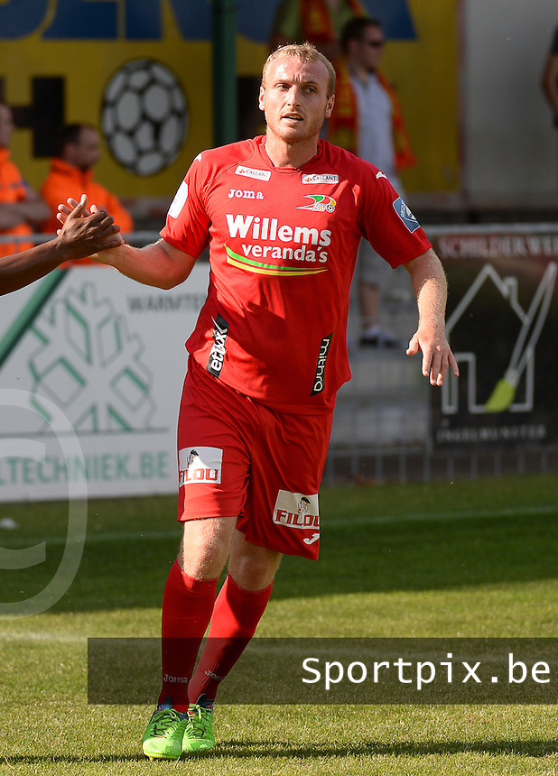 20150627 - INGELMUNSTER , BELGIUM : Oostende's Kevin Vandendriessche pictured during a friendly match between Belgian first division team KV Oostende and Belgian fourth division soccer team OMS Ingelmunster , during the preparations for the 2015-2016 season, Saturday 27th June 2015 in Ingelmunster. PHOTO DAVID CATRY