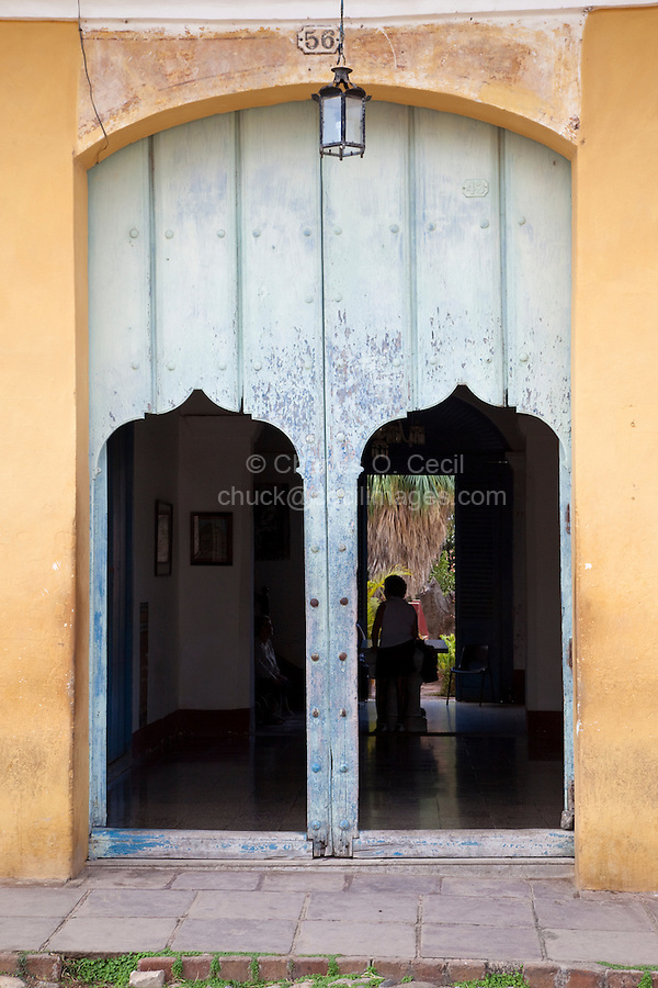 Cuba, Trinidad.  Doorway to an Inner Garden.