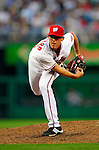 3 July 2009: Washington Nationals' pitcher Tyler Clippard on the mound against the Atlanta Braves at Nationals Park in Washington, DC. The Braves defeated the Nationals 9-8 to take the first game of the 3-game weekend series. Mandatory Credit: Ed Wolfstein Photo