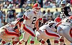 Oakland Raiders vs. Cleveland Browns at Oakland Alameda County Coliseum Sunday, September 24, 2000.  Raiders beat Browns  36-10.  Cleveland Browns quarterback Tim Couch (2).