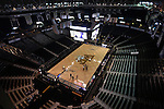 24 February 2016: LVJM Coliseum. The Wake Forest University Demon Deacons hosted the University of Notre Dame Fighting Irish at Lawrence Joel Veterans Memorial Coliseum in Winston-Salem, North Carolina in a 2015-16 NCAA Division I Men's Basketball game. Notre Dame won the game 69-58.