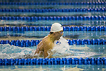BIRMINGHAM, AL - MARCH 11: Anton Lobanov of Nova Southeastern swims in the Men's  200 Yard Breaststroke during the Division II Men's and Women's Swimming & Diving Championship held at the Birmingham CrossPlex on March 11, 2017 in Birmingham, Alabama. Lobanov won the event with a time of 1:51.83. (Photo by Matt Marriott/NCAA Photos via Getty Images)