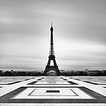 Eiffel Tower from Trocadero, Paris, France