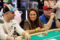 28 February 2009: Celebrity Tia Carrere at the 7th Annual WPT World Poker Tour Invitational at the Commerce Casino in Los Angeles, CA. Players compete for poker glory and a  piece of the $200,000 prize pool. Celebrity and Pro card players in action.