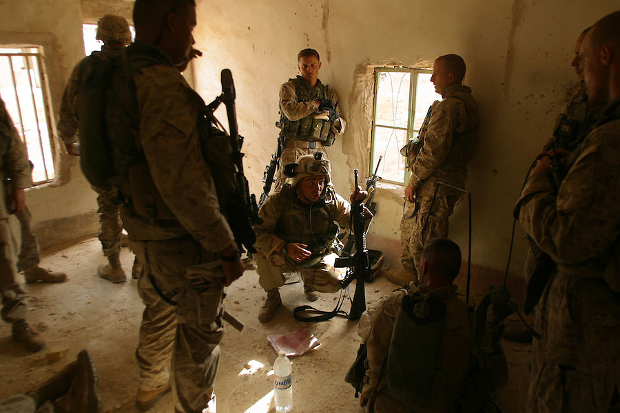 The Marines of the 11th Marine Expeditionary Unit battle the fighters of the Moqtada al-Sadr-led Mehdi Army on the second day of the Battle of Najaf in August, 2004.<br />