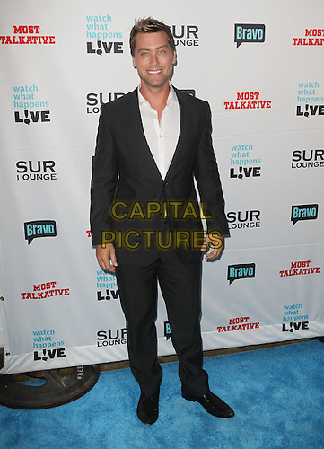 "Lance Bass.Bravo's Andy Cohen's Book Release Party For ""Most Talkative: Stories From The Front Lines Of Pop Held at SUR Lounge, West Hollywood, California, USA..May 14th, 2012.full length black suit white shirt.CAP/ADM/KB.©Kevan Brooks/AdMedia/Capital Pictures."