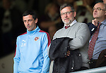 Hearts v St Johnstone...02.08.15   SPFL Tynecastle, Edinburgh<br /> Hearts Director of Football Craig Levein watches from the stands<br /> Picture by Graeme Hart.<br /> Copyright Perthshire Picture Agency<br /> Tel: 01738 623350  Mobile: 07990 594431