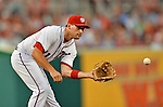 15 June 2012: Washington Nationals third baseman Ryan Zimmerman in action against the New York Yankees at Nationals Park in Washington, DC. The Yankees defeated the Nationals 7-2 in the first game of their 3-game series. Mandatory Credit: Ed Wolfstein Photo