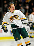 12 December 2009: University of Vermont Catamount defenseman Josh Burrows, a Junior from Prairie Grove, IL, skates around his end prior to a game against the St. Lawrence University Saints at Gutterson Fieldhouse in Burlington, Vermont. The Catamounts shut out their former ECAC rival Saints 3-0. Mandatory Credit: Ed Wolfstein Photo