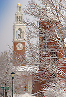 Ira Allen Chapel and Billings Library, Winter UVM Campus