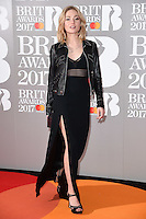 Clara Paget at the 2017 Brit Awards at the O2 Arena in London, UK. <br /> 22 February  2017<br /> Picture: Steve Vas/Featureflash/SilverHub 0208 004 5359 sales@silverhubmedia.com