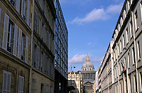 Pantheon as seen from Ulm Street in Paris, France.