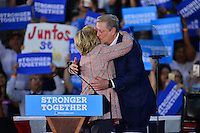 MIAMI, FL - OCTOBER 11: Democratic presidential nominee former Secretary of State Hillary Clinton and former Vice President Al Gore campaign together at the Miami Dade College - Kendall Campus, Theodore Gibson Center on October 11, 2016 in Miami, Florida.  Credit: MPI10 / MediaPunch