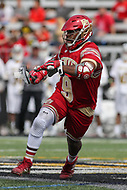 Towson, MD - March 25, 2017: Denver Pioneers Trevor Baptiste (9) in action during game between Towson and Denver at  Minnegan Field at Johnny Unitas Stadium  in Towson, MD. March 25, 2017.  (Photo by Elliott Brown/Media Images International)