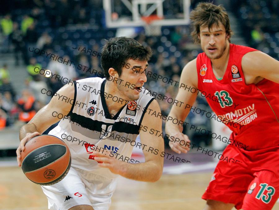 Mihajilo Andric Euroleague, Evroliga, Partizan - Lokomotiv Kuban Januar 31, 2014. in Belgrade, Serbia (credit image & photo: Pedja Milosavljevic / STARSPORT / +318 64 1260 959 / thepedja@gmail.com)