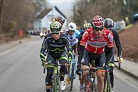 Jurgen Roelandts (BEL/Lotto-Soudal) setting the pace in the breakaway group<br /> <br /> 69th Kuurne-Brussel-Kuurne 2017 (1.HC)