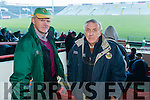 John King and Donal O'Leary, pictured at the Kerry v Limerick McGrath Cup Football Final on Sunday last in Limerick GAA Grounds.