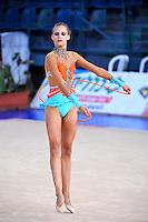Jelizaveta Gamalejeva of Latvia performs with rope at 2010 Holon Grand Prix at Holon, Israel on September 3, 2010.  (Photo by Tom Theobald).