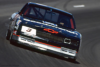 DARLINGTON, SC - APRIL 2: Dale Earnhardt drives his GM Goodwrench Chevrolet during practice for the TranSouth 500 on April 2, 1989, at Darlington Raceway near Darlington, South Carolina.