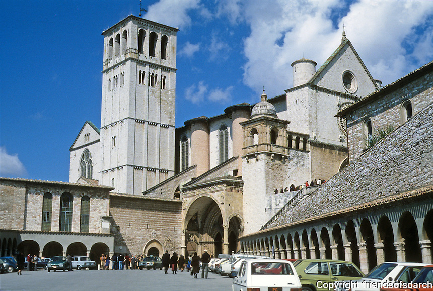 Italy: Assisi--Basilica San Francisco. Lower and upper, 13th, 14th century. Photo '85.