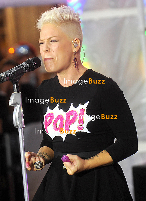 "Pink performs on NBC's ""Today"" show in New York City..September 18, 2012."