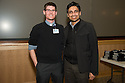 Student Clinician Ceremony. Jonathan Galli, left, class of 2014, Sanchit Maruti, M.D.