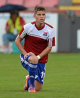 3. Fussball Bundesliga:  2. Spieltag    Saison   2012/2013   SpVgg Unterhaching  - FC Hansa Rostock   28.07.2012 Florian Niederlechner (Unterhaching)
