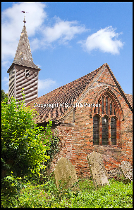 BNPS.co.uk (01202 558833)<br /> Pic: Strutt&amp;Parker/BNPS<br /> <br /> *Please use full byline*<br /> <br /> An exterior shot of the building.<br /> <br /> The owner of this converted church will be praying that a still in use graveyard won't put people off snapping up his unusual home.<br /> <br /> Old All Saints Church dates from the early 16th century with additions and renovations added later, but the churchyard around it is open to the public and still has one or two burials a year.<br /> <br /> The quirky home, which is Grade II* listed and almost 1,300 sq ft, consists of a kitchen and bathroom in the chapel, the nave and chancel have been converted to create a living, dining and study areas and a mezzanine floor was put in to create a bedroom.<br /> <br /> The current owner bought it as a derelict church in the 1970s and got planning permission to turn it into a home. He has lived there since but, following the death of his partner, decided to downsize and sell this unusual property.<br /> <br /> Sharnie Rogers from Strutt &amp; Parker, who are selling the property, said it still has all the characteristics of a church and there is still potential for more conversion to be done.