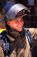 Instructor at Durham Fire Dept. training facility.