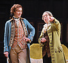 She Stoops to Conquer<br /> by Oliver Goldsmith <br /> directed by James Lloyd<br /> at the Olivier Theatre, Southbank, London, Great Britain <br /> 30th January 2012<br /> <br /> John Heffernan (as Hastings)<br /> Steve Pemberton (as Mr Hardcastle)<br /> <br /> <br /> <br /> <br /> Photograph by Elliott Franks