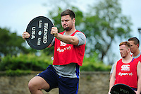 Elliott Stooke of Bath Rugby in action. Bath Rugby pre-season skills training on June 21, 2016 at Farleigh House in Bath, England. Photo by: Patrick Khachfe / Onside Images