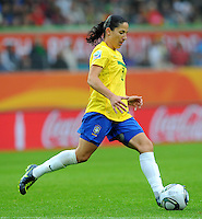 Daiane of team Brazil during the FIFA Women's World Cup at the FIFA Stadium in Wolfsburg, Germany on July 3rd, 2011.