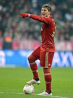 FUSSBALL   1. BUNDESLIGA  SAISON 2012/2013   17. Spieltag FC Bayern Muenchen - Borussia Moenchengladbach    14.12.2012 Bastian Schweinsteiger (FC Bayern Muenchen)